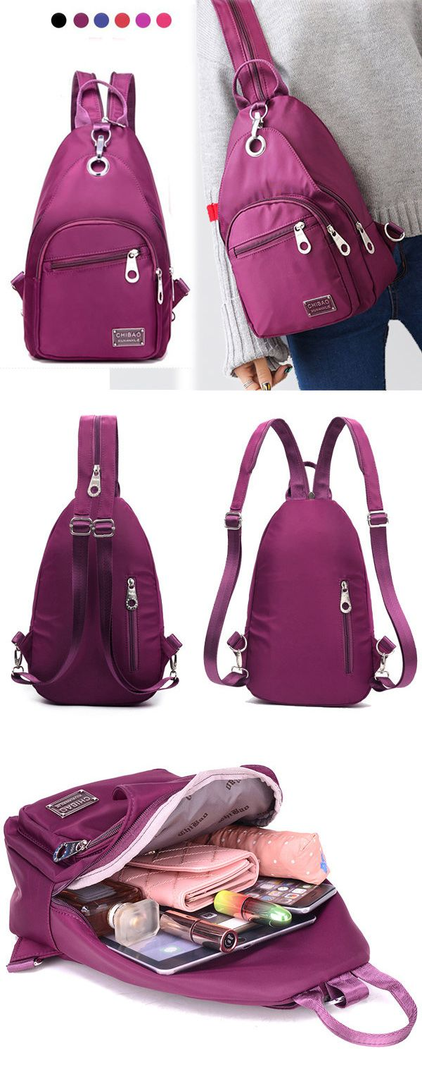 $17.89 Women Nylon Chest Bag, Upgrade High-End Daily Crossbody Bag, Waterproof Shoulder Bag