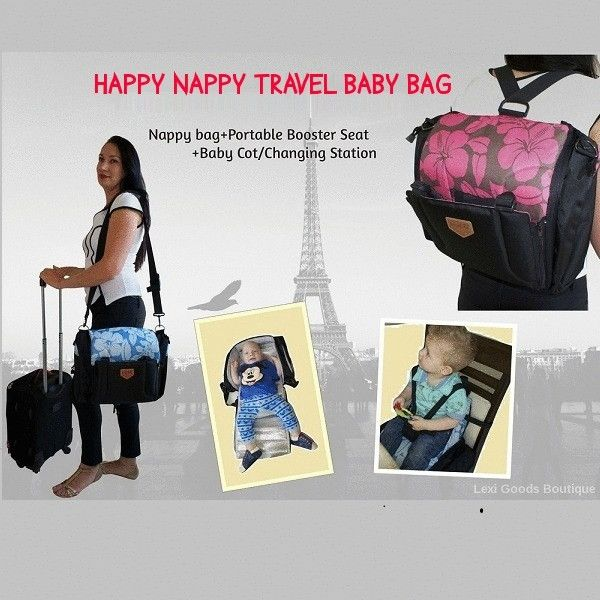 Happy Nappy Travel Backpack-Watch my latest Video on how this bag can make your life with a baby or a young child easier https://www.lexigoodsboutique.com.au/