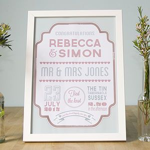 Are You Interested In Our Personalised Wedding Day Gift Print With Vintage Typography Anniversary Poster Need Look No Further