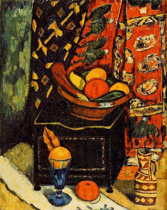 """Still Life No. 1,"" Marsden Hartley, 1912, oil on canvas, 31 x 25 5/8"", Columbus…"