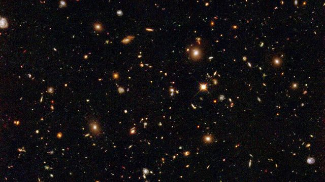 Every light isn't just a star, each one is a galaxy of stars, hundreds of billions of billions.