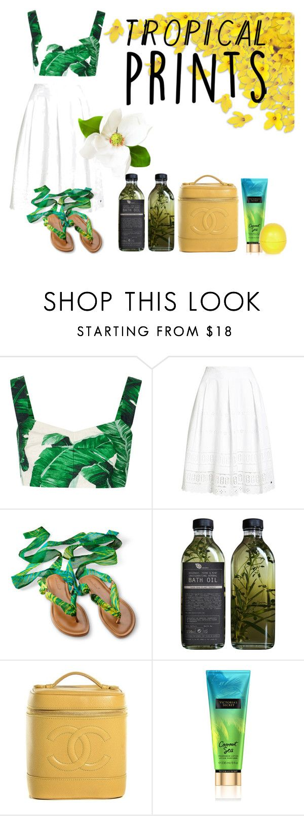 """""""Tropical prints"""" by lynn-frank ❤ liked on Polyvore featuring Dolce&Gabbana, Superdry, AMBRE, Chanel and River Island"""