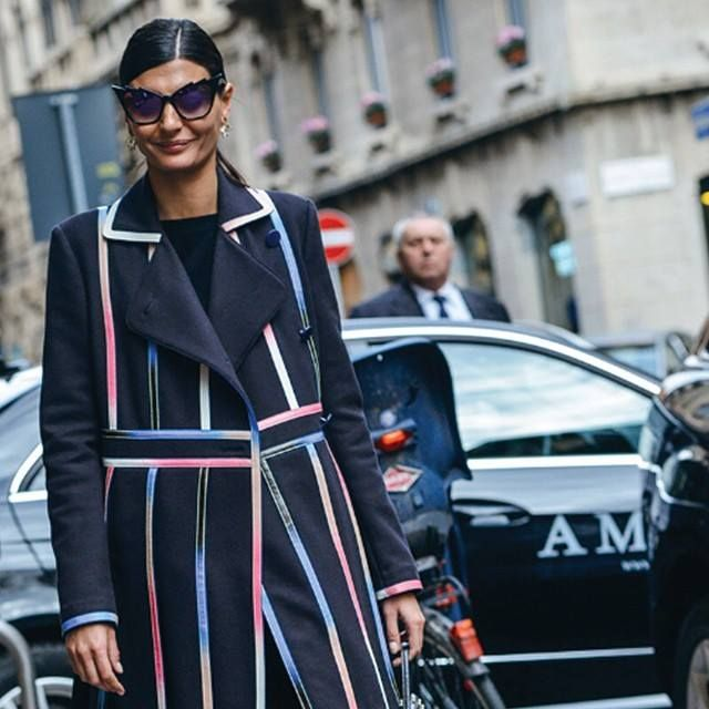 SPOTTED: #GiovannaBataglia wearing #DitaEyewear 'Hurricane' sunglasses on the streets of Milan!