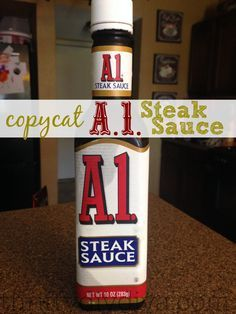 I've gotta try this one.  A1 is my favorite!    Copycat Homemade A.1. Steak Sauce Recipe!