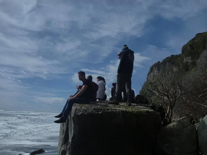 Admiring the view of the beach on the rugged West Coast of New Zealand  #NewZealand #NZ #FranzJosef