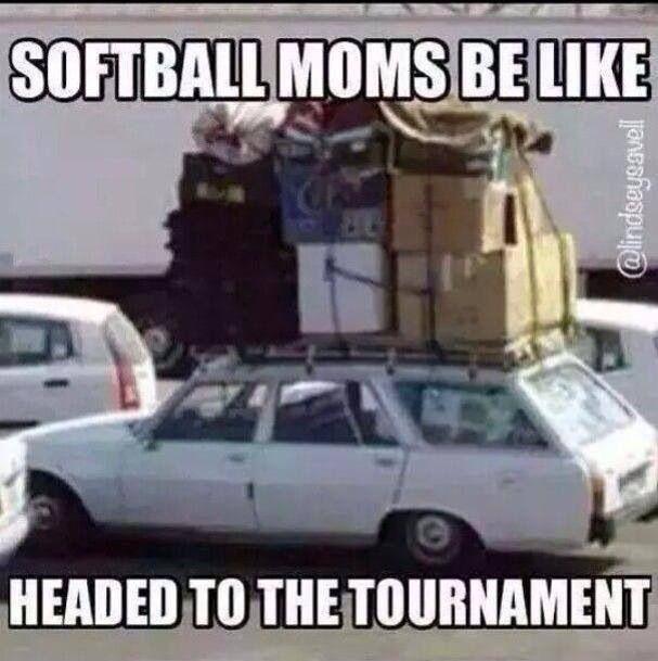 Softball moms be like....