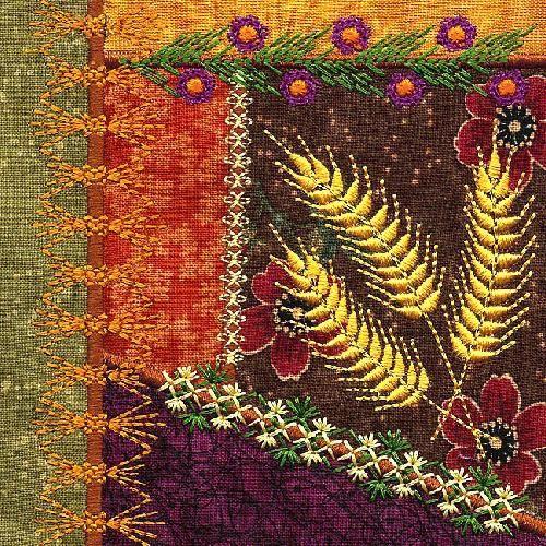 1669 best Embellishment - Embroidery, Crazy Quilt, Ribbon Work etc ... : crazy quilt definition - Adamdwight.com