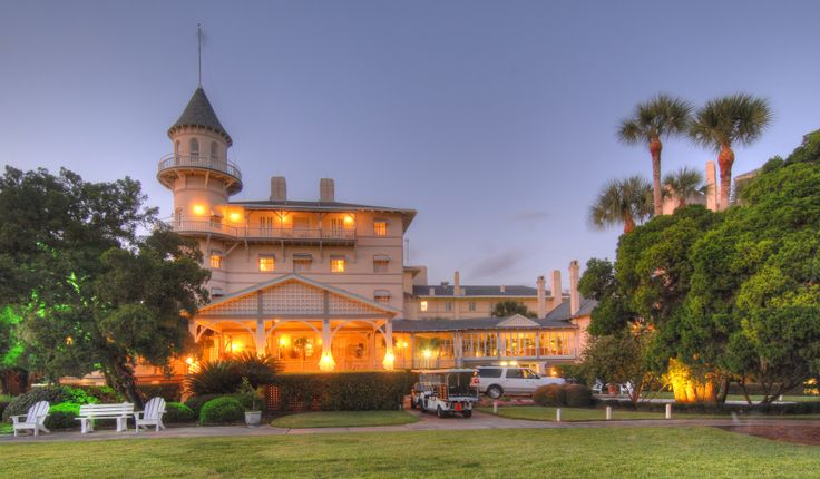The Jekyll Island Club Hotel and historic district of Jekyll Island. www.GoldenIsles.com