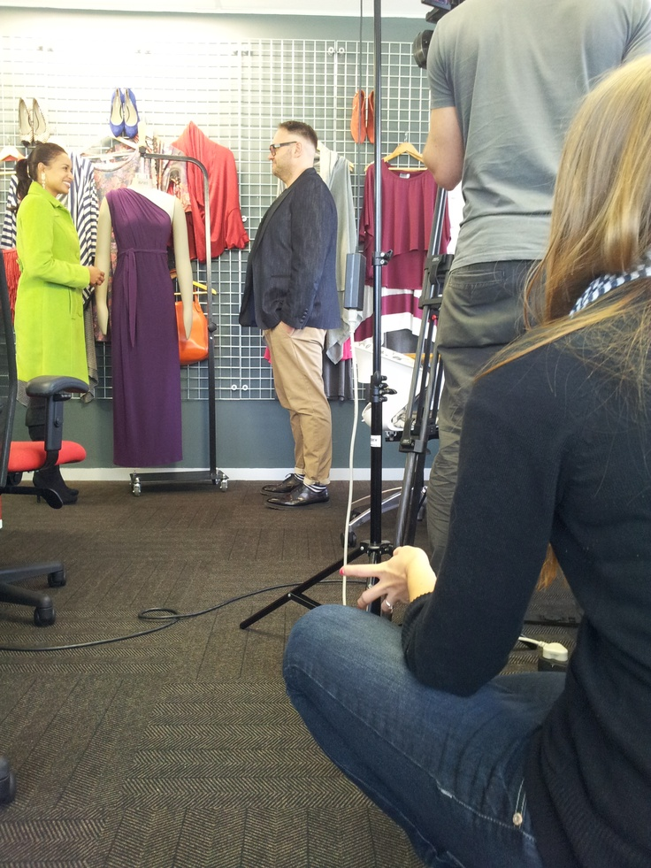 Chris Viljoen, Fashion Director of SARIE.com being interviewed on TV for kykNET Bravo!