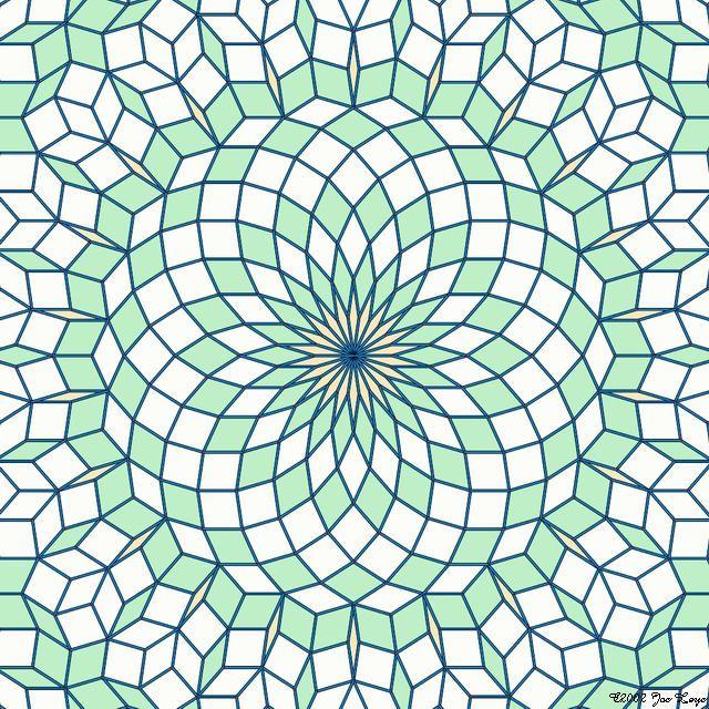 Penrose tiling by Jos Leys