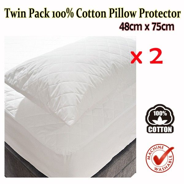 This Twin Pack Cotton Pillow Protector by Invitation helps protect your pillows and keep it fresh for a long time and also a good protection against staining.