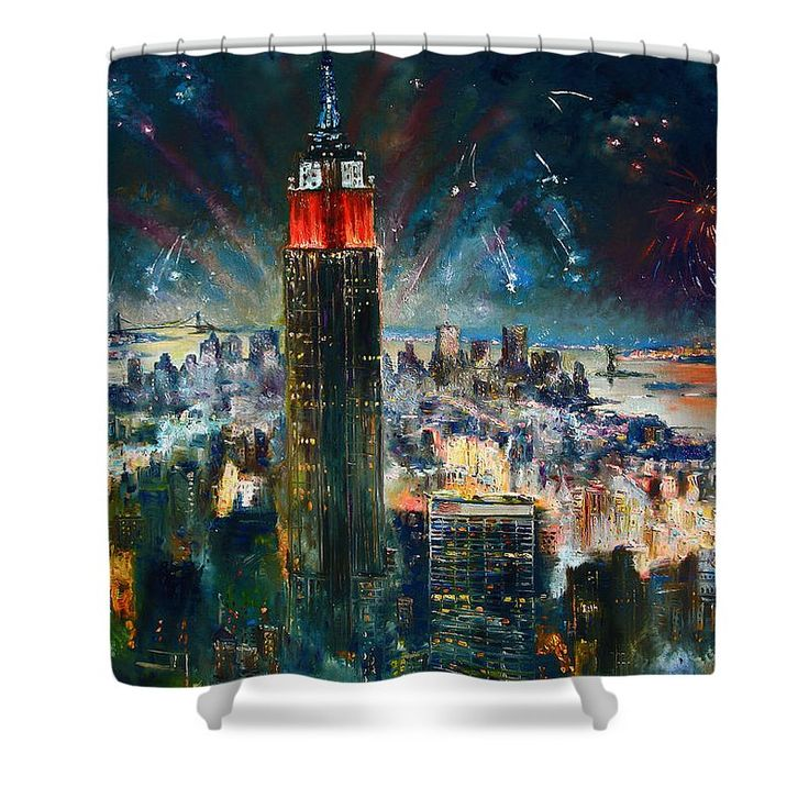Nyc In Fourth Of July Independence Day Shower Curtain for Sale by Ylli Haruni