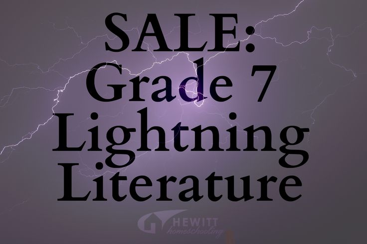 SALE: Until 2/1/17 purchase the 3-volume set of Grade 7 Lightning Literature for $45, or the complete pack for $85