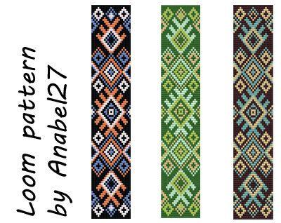 Loom bead pattern   ethnic style  beaded pattern por Anabel27shop, $5.00