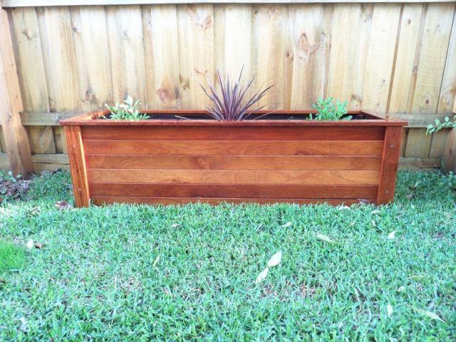 Merbau Planter BOX Hard Wood 1400 MM Long Unique Design | eBay
