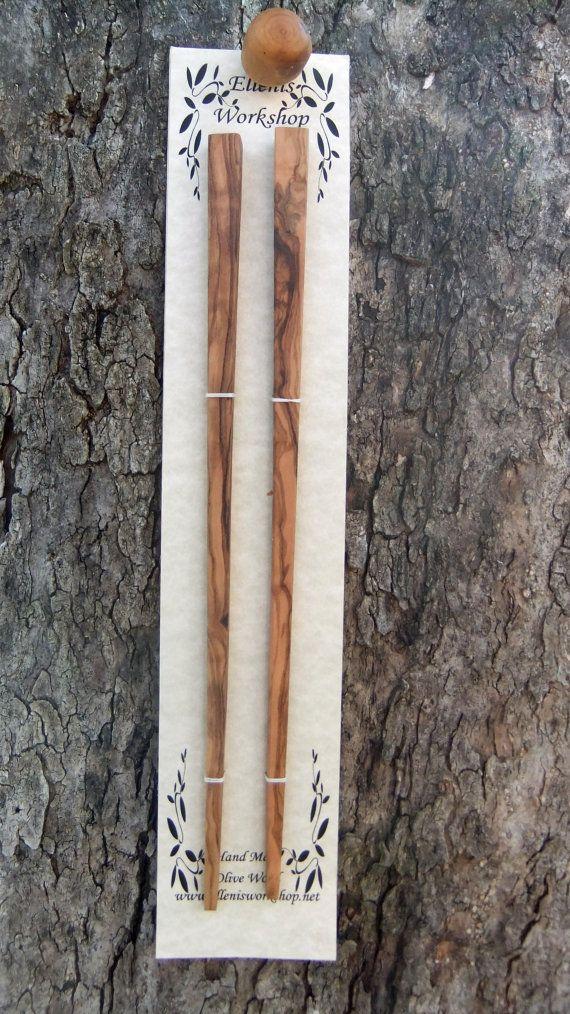 Olive Wood chopsticks hand made by ellenisworkshop on Etsy
