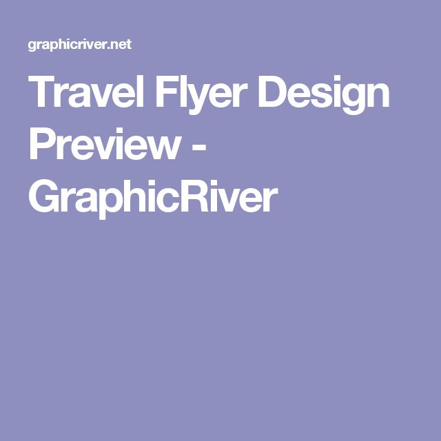 Travel Flyer Design Preview - GraphicRiver