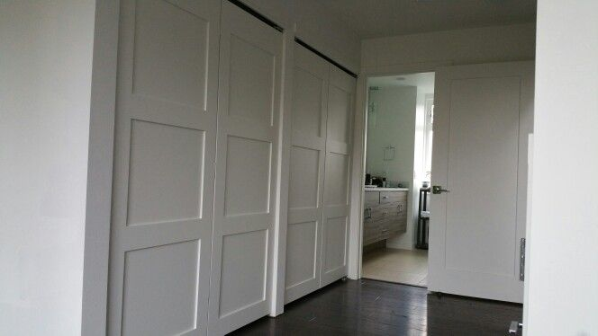 Three Panel Shaker Closet Doors 10 Foot Opening Home