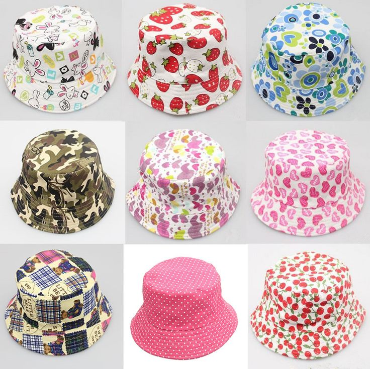 2016 новая девушка детские мальчики дети Bebe ведра капот Hat Cap хлопок кролик яблоко вишня шляпа шапочка головной убор аксессуары для волос #jewelry, #women, #men, #hats, #watches