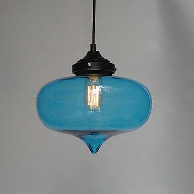 Bubble Design Pendant, 1 Light with Transparent Shade – USD $ 79.99