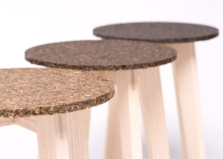 German designer Carolin Pertsch has used bundles of seagrass to create an eco-material for a collection of stools.