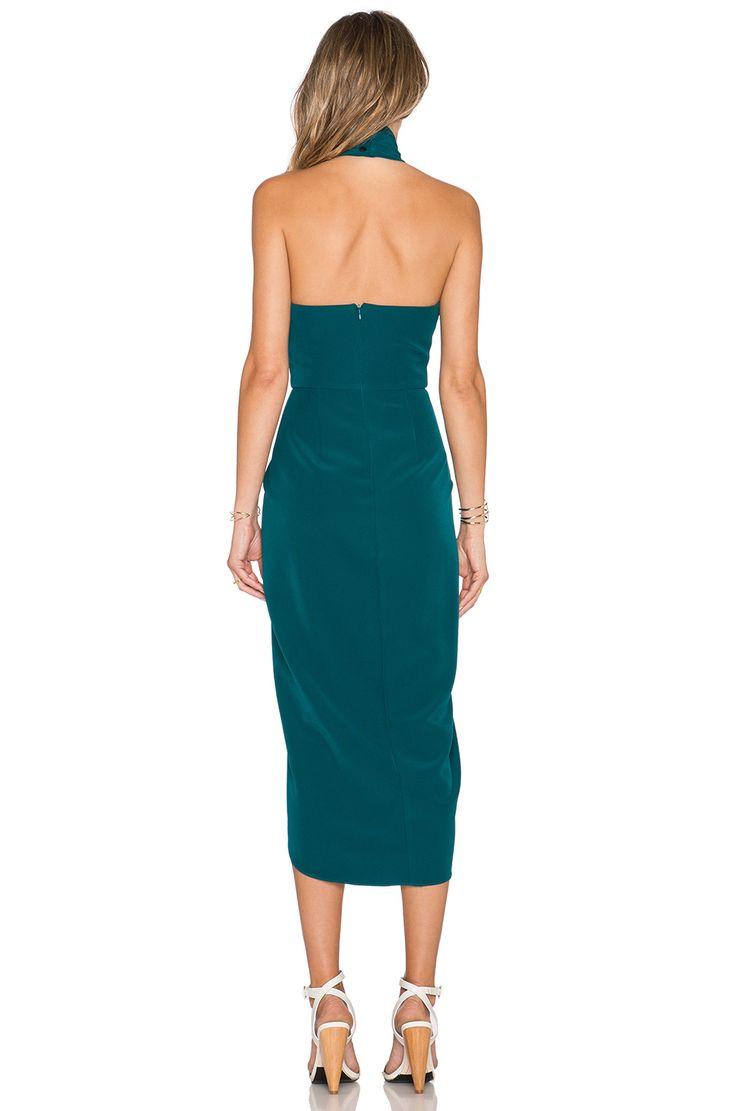 Shona Joy The Pass Knot Draped Dress in Peacock   REVOLVE