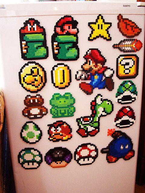 Mario Perler Fuse Bead Designs