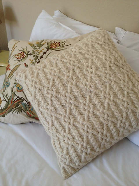 Ravelry: Project Gallery for Entwined Cables Pillow pattern by Melissa Leapman