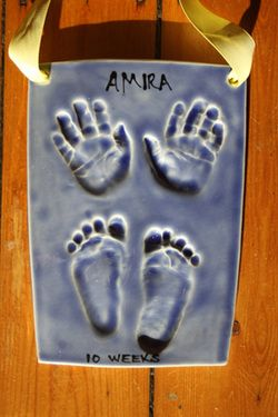 have clay prints of my babys hands and feet when the time comes