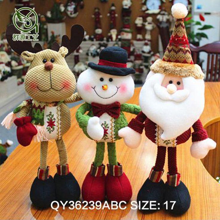 Christmas Santa Claus/Snowman Dolls Standing Navidad Figurine Christmas tree Ornaments Kids Christmas Gifts Toy
