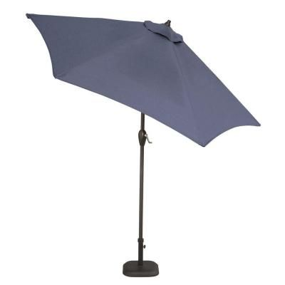 Aluminum Patio Umbrella In Sky Blue With Push Button Tilt. Patio  UmbrellasHome DepotBeach ...