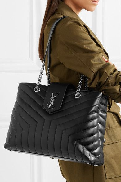 Saint Laurent - Loulou Large Quilted Leather Shoulder Bag - Black ... 5a95852b78d70
