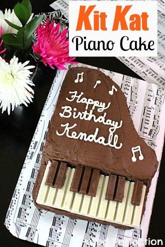 Kit Kat Piano ciasto