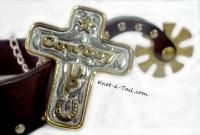 Cowboy-up Rodeo style Inspiration Cross necklace, Cowboy-up necklace