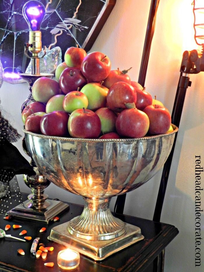 Decorating with Thrift Store Silver ...or paint an old punch bowl with 'mercury' paint