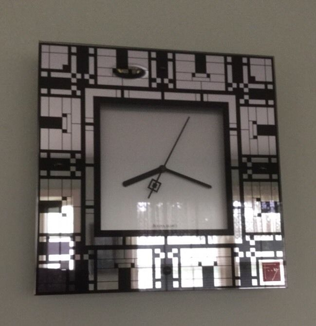 Bulova Wall Clock Inspired By Frank Lloyd Wright. Design-Quartz Operated #1266 #Bulova #Modern