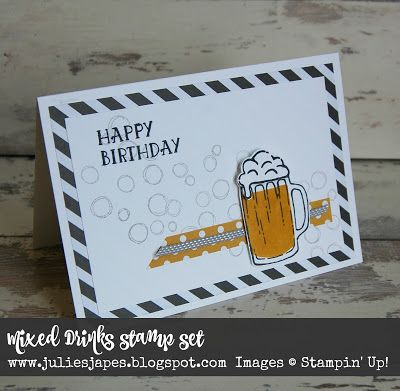 Julie Kettlewell - Stampin Up UK Independent Demonstrator - Order products 24/7: Mixed Drinks for Coffee and Card