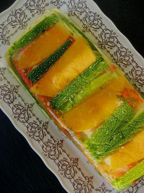 Terrine de salmão com legumes e endro