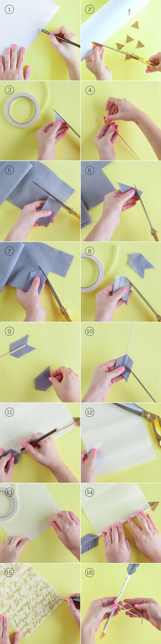 Passo a passo para fazer uma flecha de cupido com mensagem para namorados