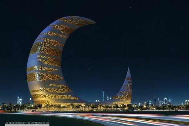 Skyscraper-crescent moon tower in Dubai