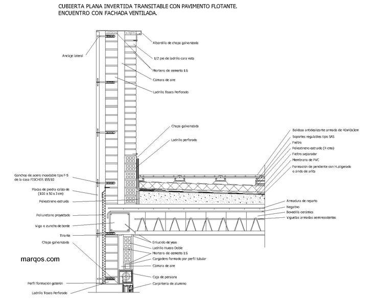 Mejores 11 im genes de detalles constructivos en pinterest for Detalle suelo tecnico
