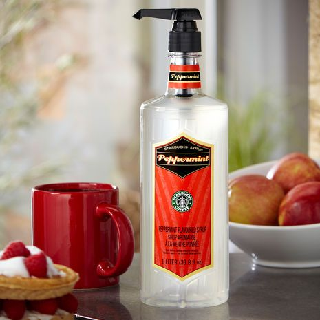 Starbucks® Peppermint Syrup. $12.95 for 1 liter All you need is steamed milk, cocoa powder, & espresso or coffee & you can make your own Peppermint Mocha