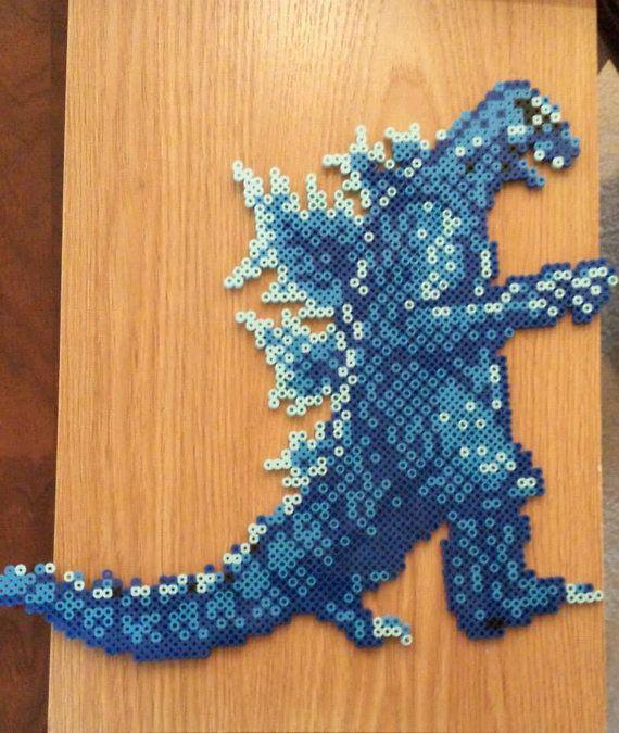 24 Best Godzilla Perler Bead Pixel Art Images By Bryce