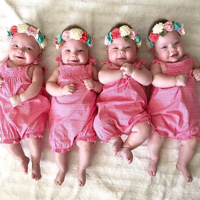Pure Joy! We love the Gardner Quad Squad! #minkycouture #cremebrulee #minky…