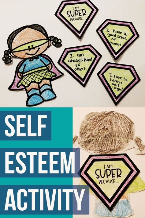 Elementary school counseling classroom guidance lesson to explore self esteem and self respect. Create a fun super hero self esteem craft! -Counselor Keri