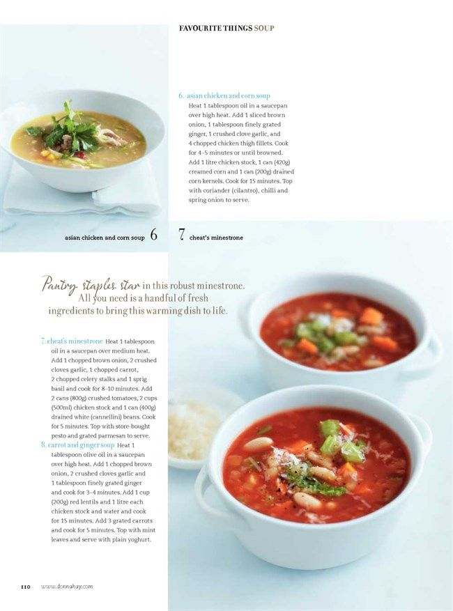 cheats minestrone Donna Hay Magazine : Issue 51 - demo, Page 110