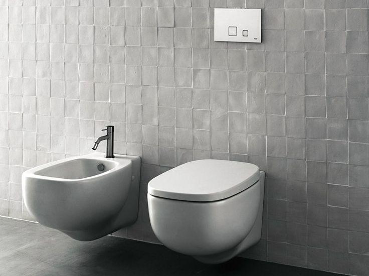 Wc / bidet in ceramica XY Collezione Sanitari / Piatti / Box Doccia by Boffi   design Piero Lissoni