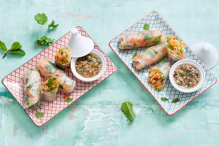 Populaire Vietnamese snack: vegetarische loempia's van rijstvellen.- Recept - Allerhande