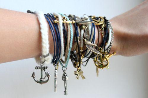 : Arm Candy, Anchors Bracelets, Keys, Armcandi, Charms Bracelets, Bangles, Accessories, Friendship Bracelets, Arm Parties