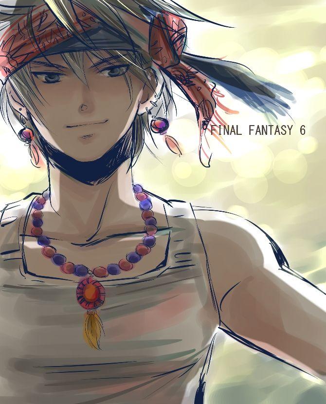 Final Fantasy VI Locke cool drawing